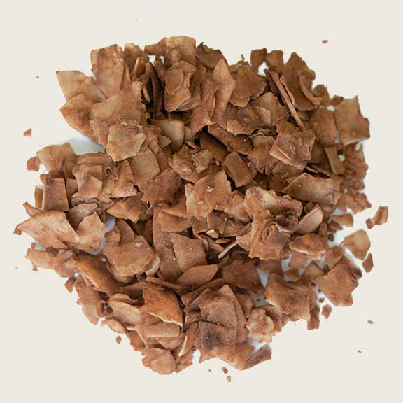 Coconut chips withCocoa delicious